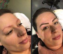 Semi Permanent - Make up by Chloe Pritchard - Semi Permanent Eyebrow - Before & After - Beautician - Kent